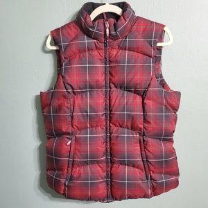 Eddie Bauer Goose Down Plaid Tartan Puffer Vest